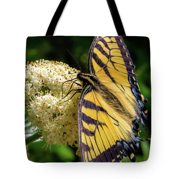 Fuzzy Butterfly Tote Bag