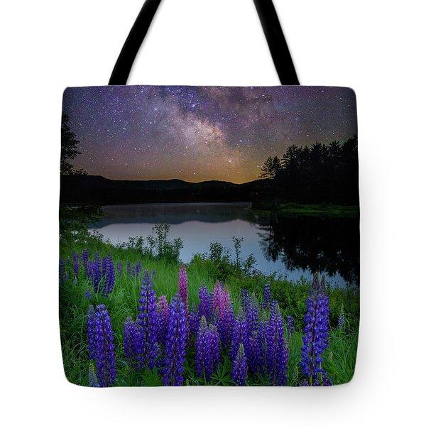Galactic Lupines Tote Bag