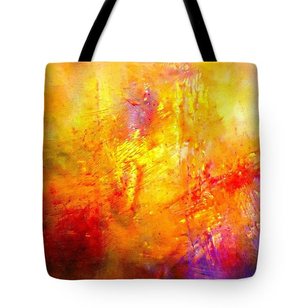 Galaxy Afire Tote Bag