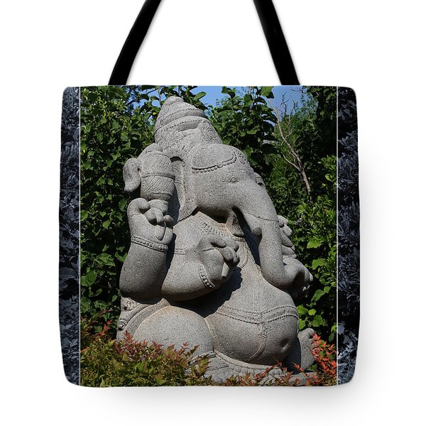 Tote Bag featuring the photograph Ganesha In The Garden by Debi Dalio