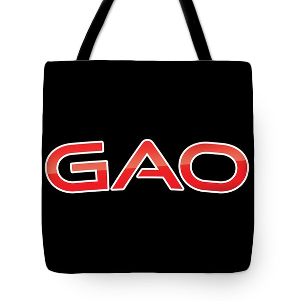 Tote Bag featuring the digital art Gao by TintoDesigns