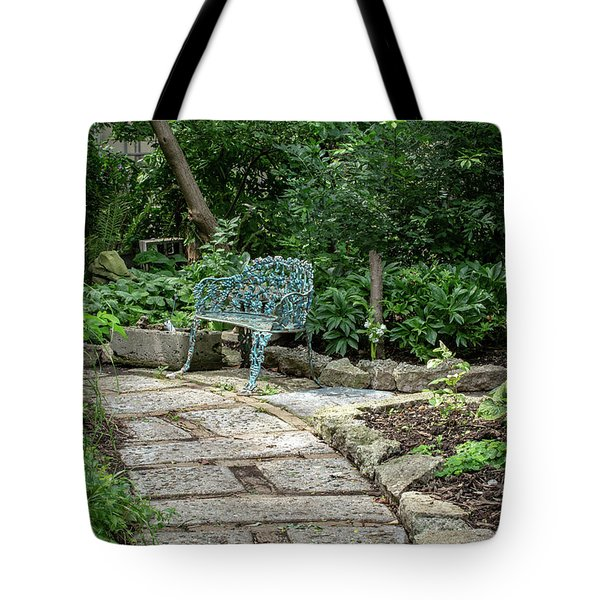 Tote Bag featuring the photograph Garden Bench by Dale Kincaid