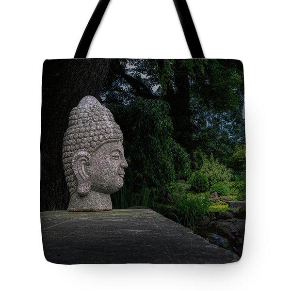 Garden Buddha Sculpture Tote Bag