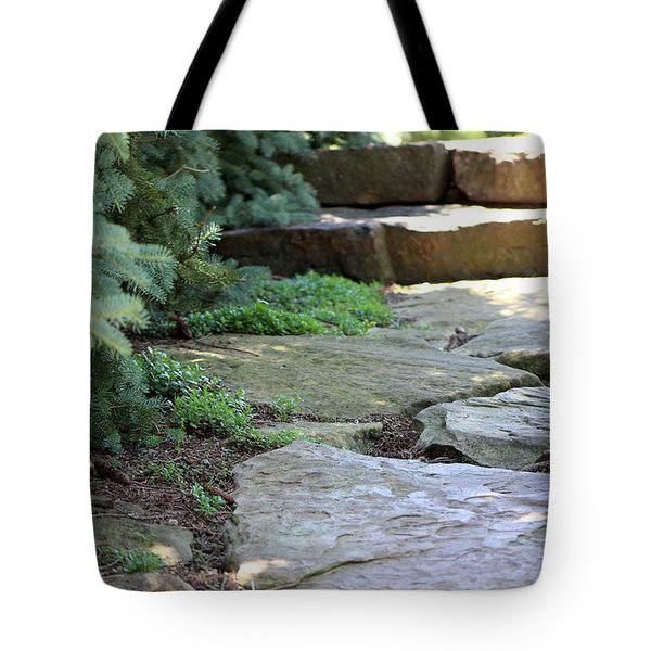 Garden Landscape - Stone Stairs Tote Bag