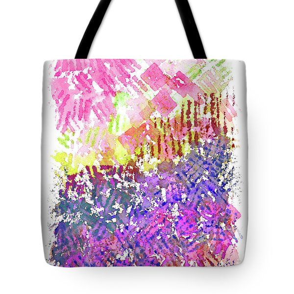 Garden Of Pink And Purple Tote Bag