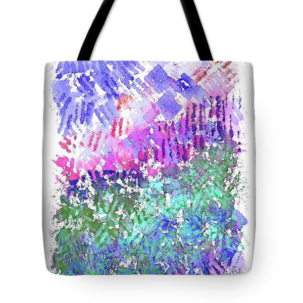 Garden Of Purple And Green Tote Bag