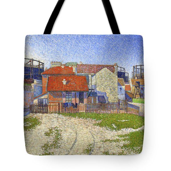 Gasometers At Clichy - Digital Remastered Edition Tote Bag
