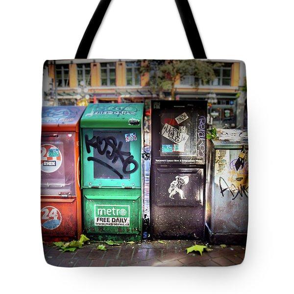 Gastown Street Newsstand Tote Bag