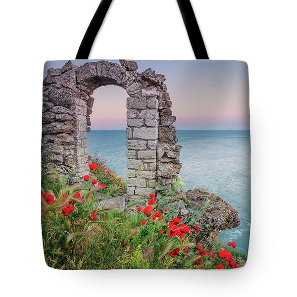 Gate In The Poppies Tote Bag