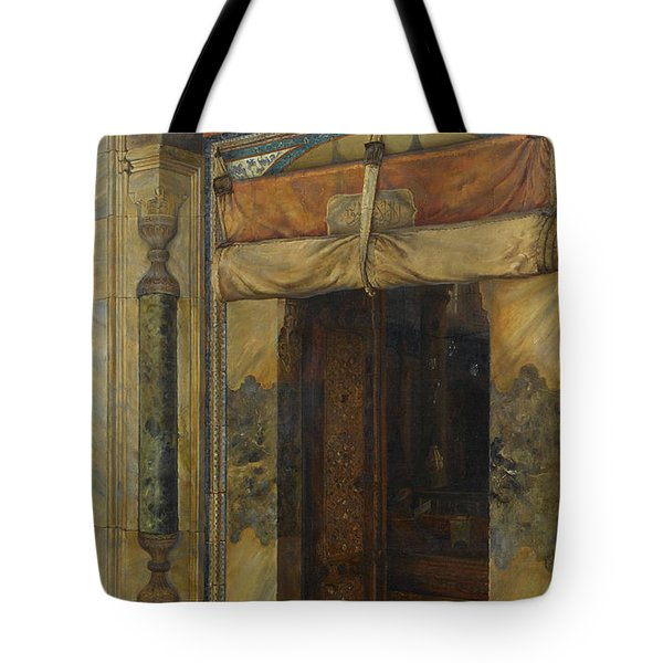 Gate Of Sultan Selim II's Tomb, 1909 Tote Bag