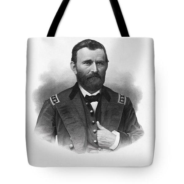 General Grant Engraved Portrait Tote Bag
