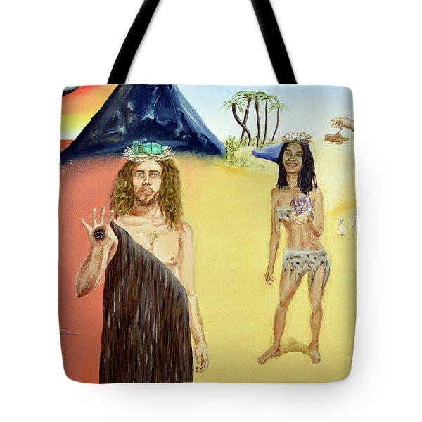 Tote Bag featuring the painting Genesis by Ryan Demaree