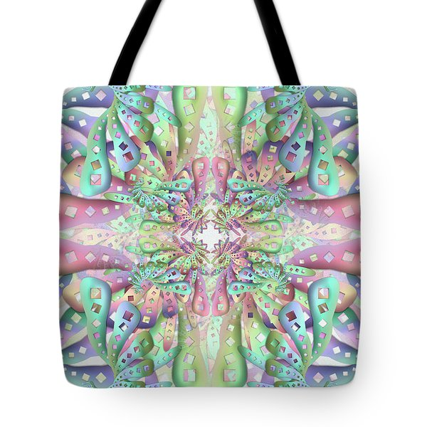 Tote Bag featuring the digital art Genome by Vitaly Mishurovsky