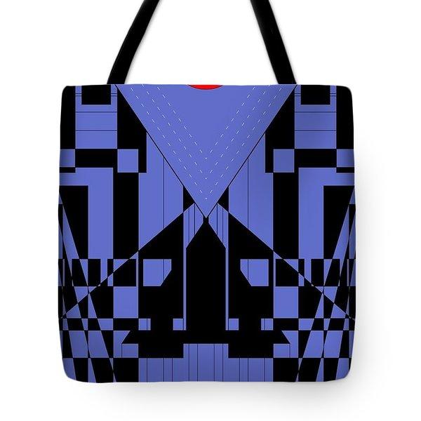 Geometric Red Dot  Tote Bag