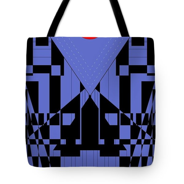 Geometric Red Dot  Tote Bag