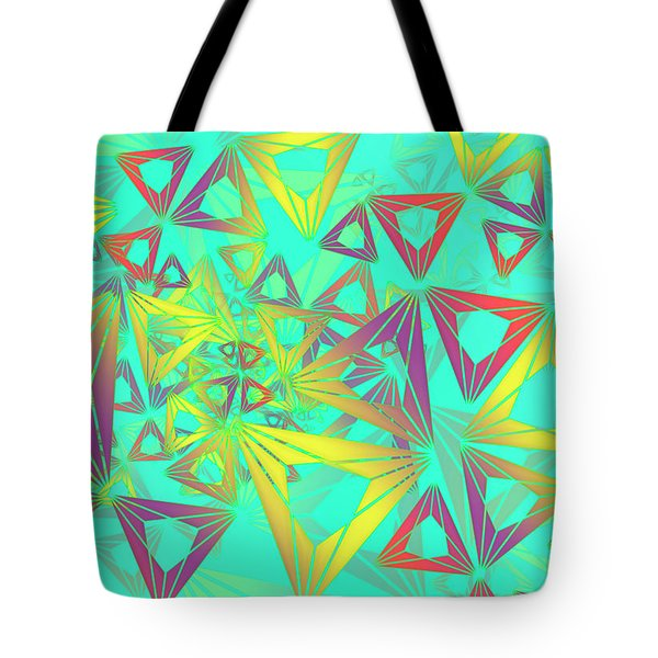 Tote Bag featuring the digital art Geovirt by Vitaly Mishurovsky