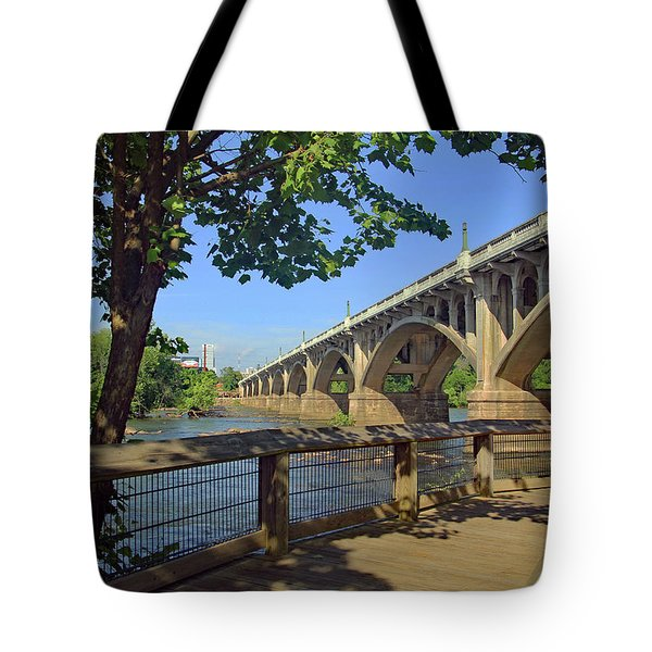 Tote Bag featuring the photograph Gervais Street Bridge 5 22 A by Joseph C Hinson Photography
