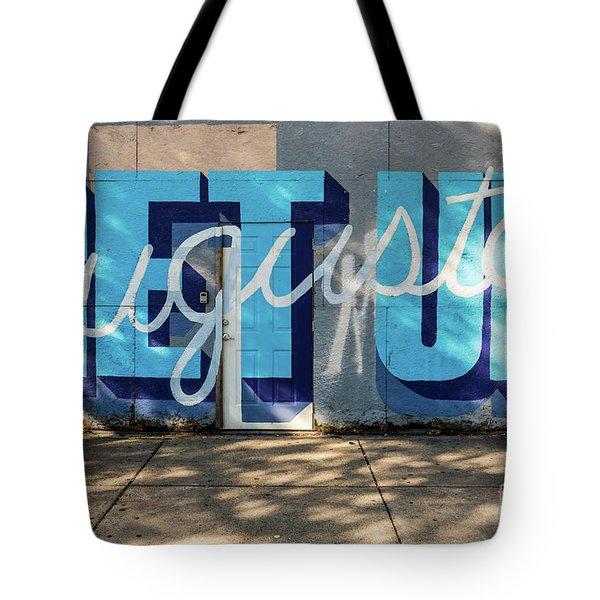 Get Up Augusta Ga Mural  Tote Bag