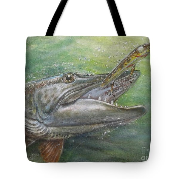 Getting A Grip On Gliding Lure Tote Bag