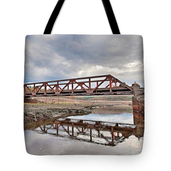 Ghost Bridge - Colebrook Reservoir Tote Bag