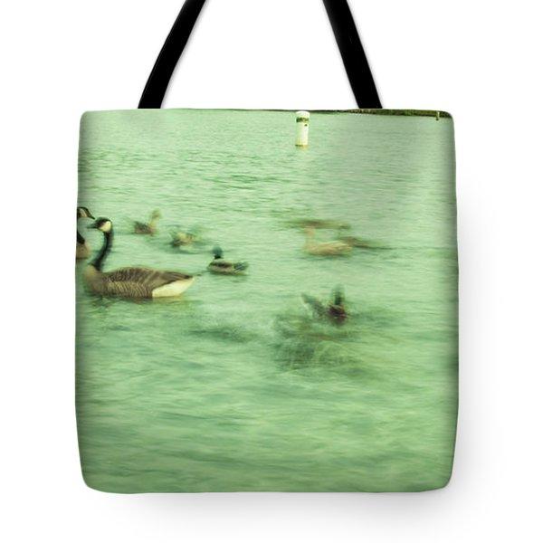 Ghost Ducks Tote Bag