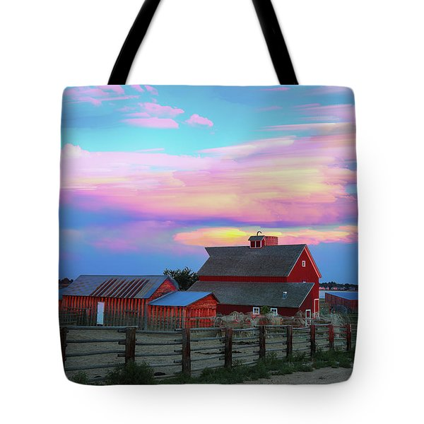 Tote Bag featuring the photograph Ghost Horses Pastel Sky Timed Stack by James BO Insogna