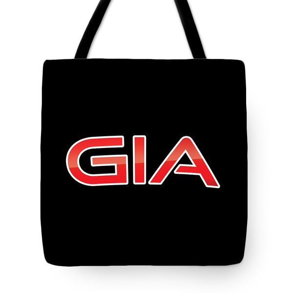 Tote Bag featuring the digital art Gia by TintoDesigns