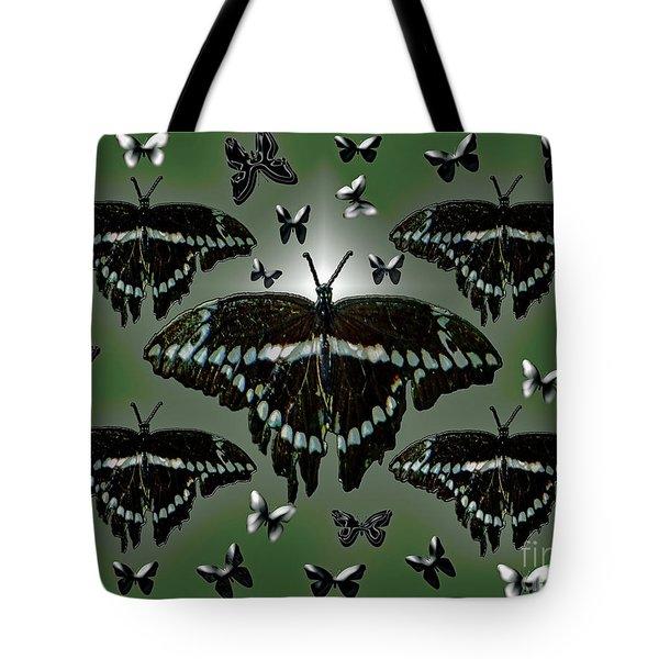 Giant Swallowtail Butterflies Tote Bag