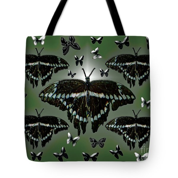 Giant Swallowtail Butterflies Tote Bag