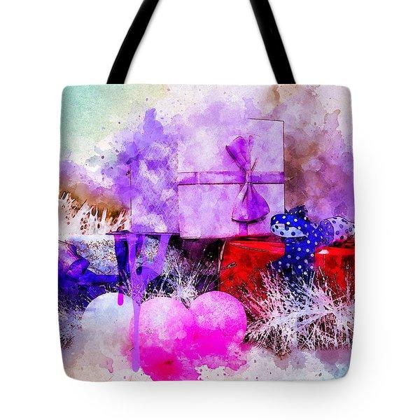 Gift Box Tote Bag