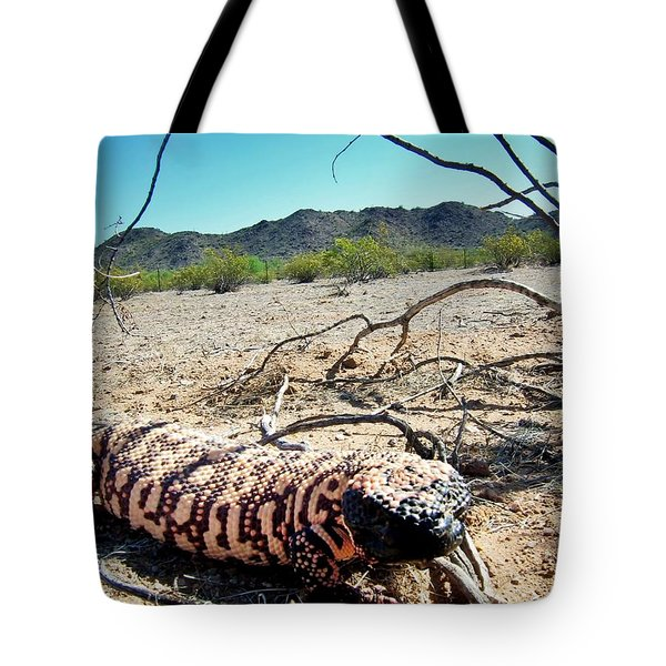 Gila Monster In The Arizona Sonoran Desert Tote Bag