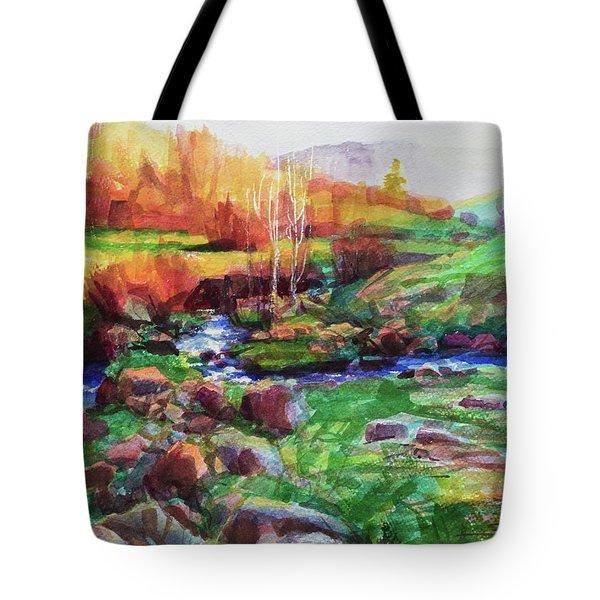 Gilded Hillside Tote Bag