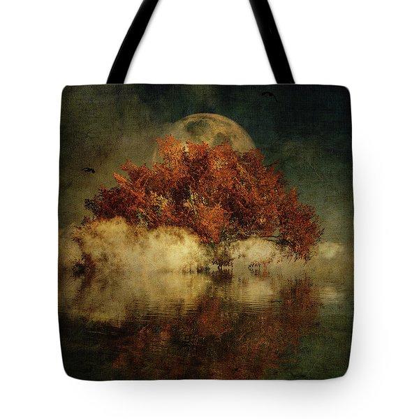 Giant Oak And Full Moon Tote Bag
