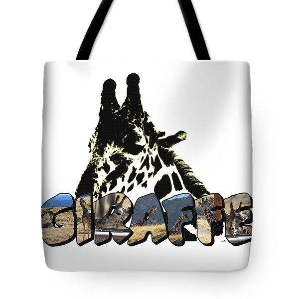 Giraffe Big Letter Tote Bag
