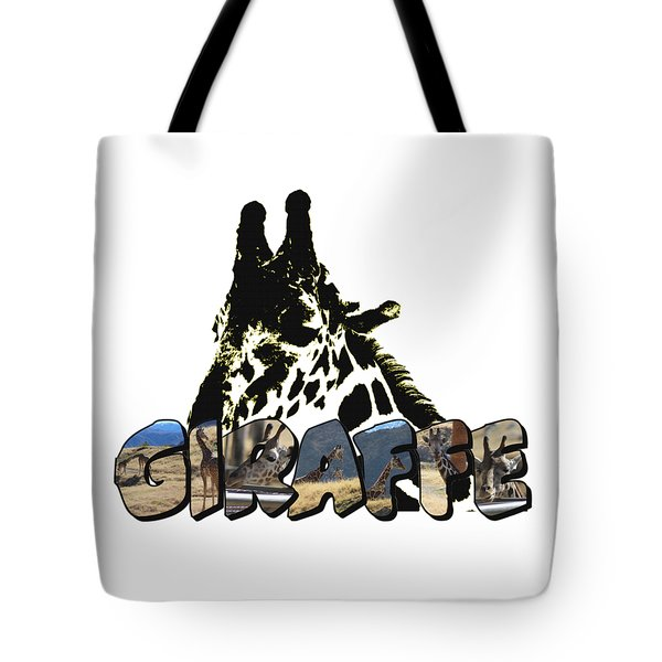 Giraffe Big Letter Tote Bag