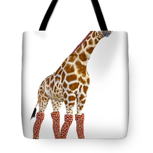 Giraffe Funny Pose Tote Bag