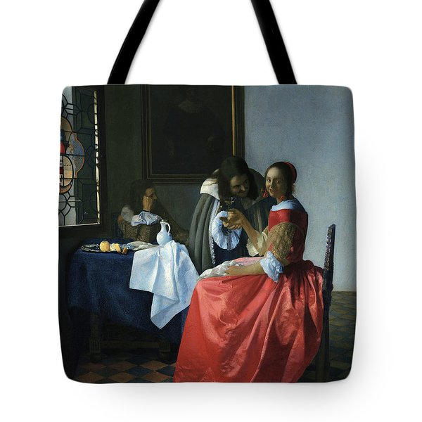 Girl With A Wineglass, 1659 Tote Bag