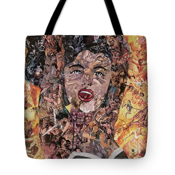 Girl With Ball After Lichtenstein Tote Bag