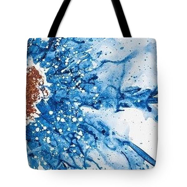 Tote Bag featuring the painting Give More, Take Less by Annie Young Arts