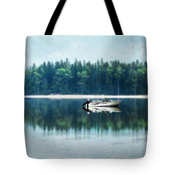 Glacier National Park Lake Reflections Tote Bag