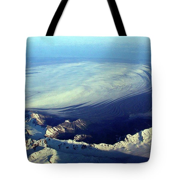 Glacier Pushes Out Tote Bag