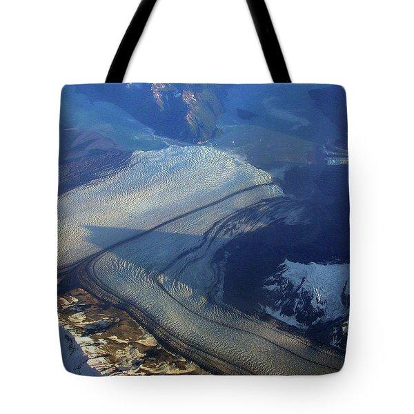 Glaciers Converge Tote Bag