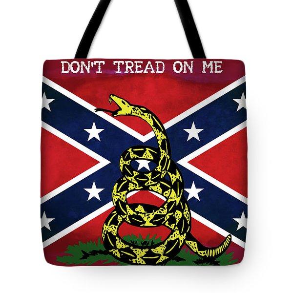 Gadsden Confederate Flag Tote Bag