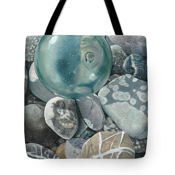 Glass Float And Beach Rocks Tote Bag