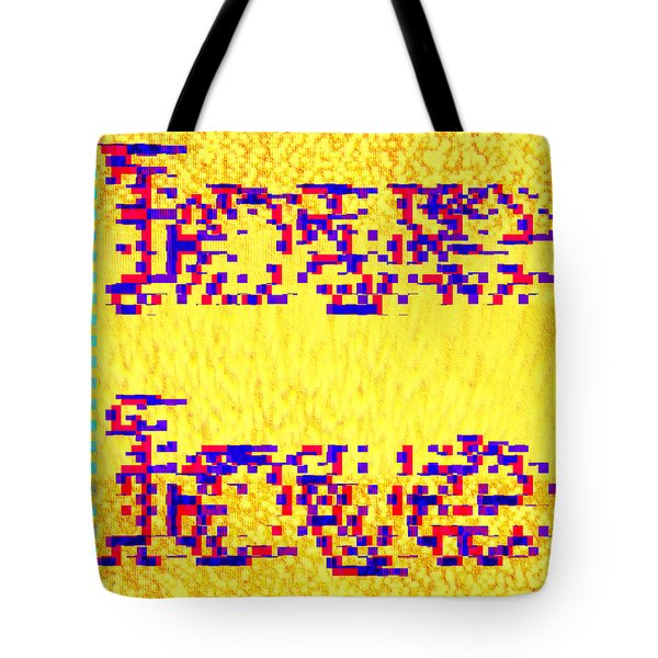 Tote Bag featuring the digital art Glitched Love by Bee-Bee Deigner