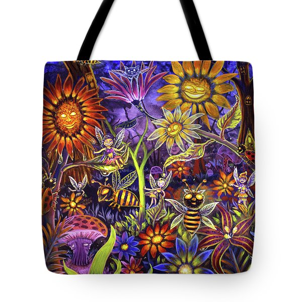 Glowing Fairy Forest Tote Bag