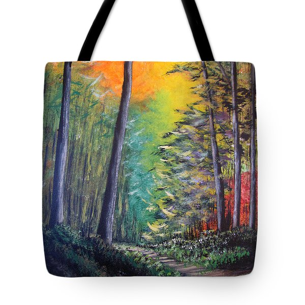 Glowing Forrest Tote Bag