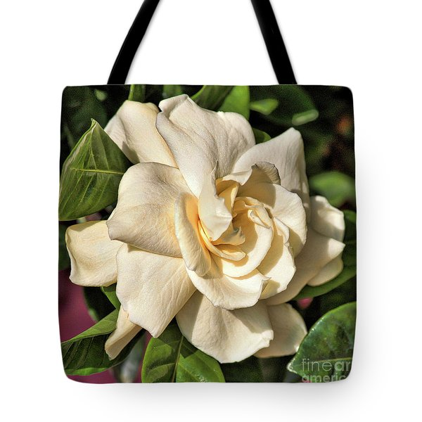 Glowing Gardenia Tote Bag