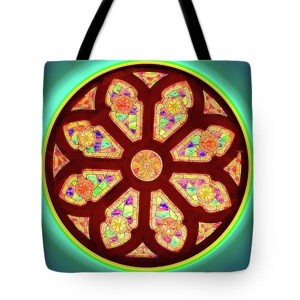 Glowing Rosette Tote Bag