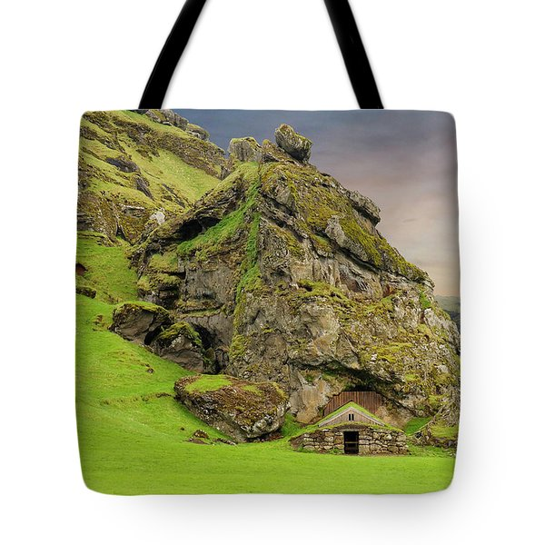 Tote Bag featuring the photograph Gnome House Southern Iceland by Marla Craven